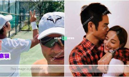 Kevin Cheng is playing tennis after visiting Grace Chan and his son?