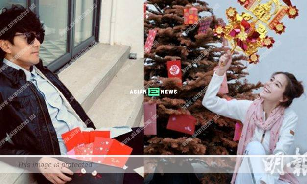 Edwin Siu finally gets to distribute red packets with his wife, Priscilla Wong