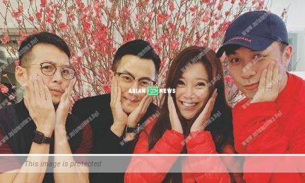 Hawick Lau has a friends gathering during Lunar New Year