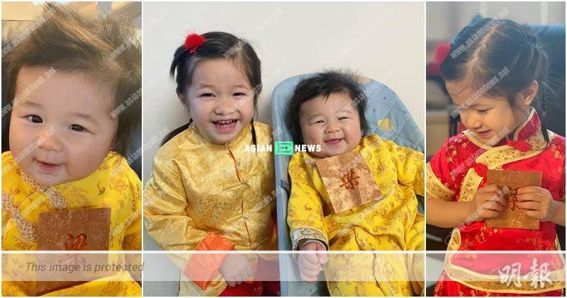 Linda Chung shows photo of her cute children wishing Happy Chinese New Year
