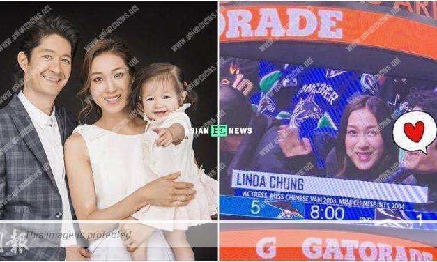 Linda Chung and her husband, Jeremy watch lacrosse competition together