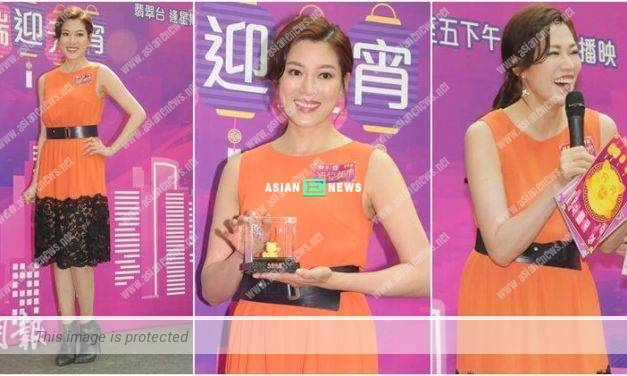 "Lucky Mandy Lam won a ""golden pig"" after bagging an award last year"
