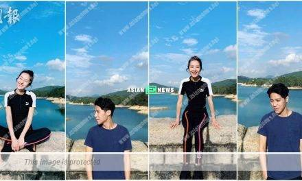 Natalie Tong and her new love resembling Wang Lee Hom go for hiking together?