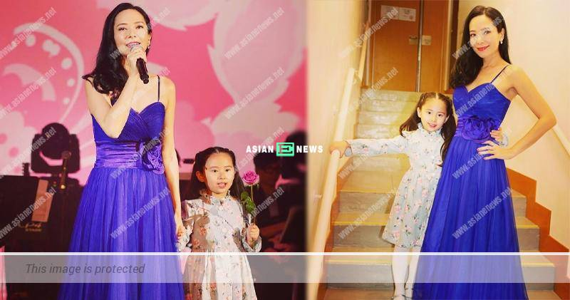 Sonija Kwok takes her 6 years old daughter to a charity concert