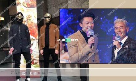 Vincent Wong wears a mask and perform moon walk
