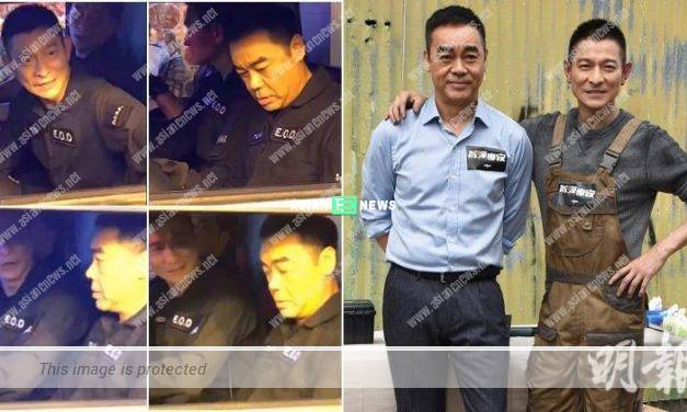 Andy Lau and Sean Lau film movie at the street; It attract many bystanders
