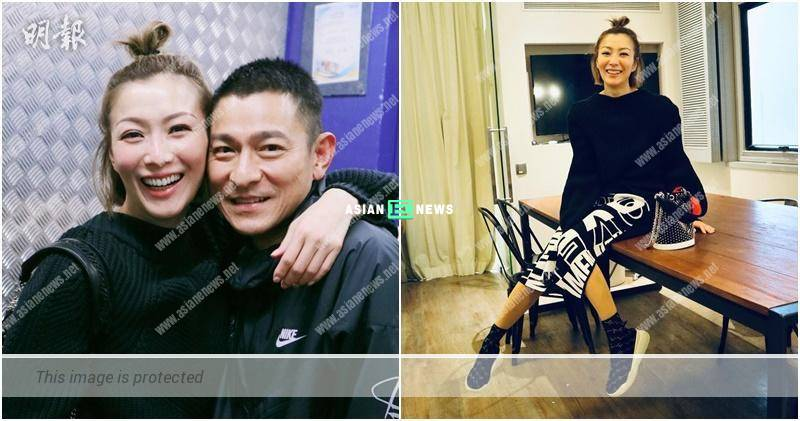 Sammi Cheng begins to shout upon seeing Andy Lau