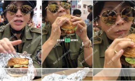 Carina Lau lets herself loose and enjoys a burger