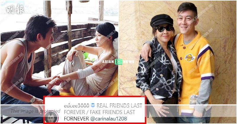 Edison Chen and Carina Lau take photo together: Real friends last forever