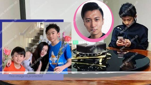 Cecilia Cheung's elder son, Lucas is taller than her and resembles Nicholas Tse