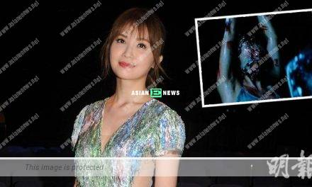 Charlene Choi is nearly suffocated to death when wrapped with cling film