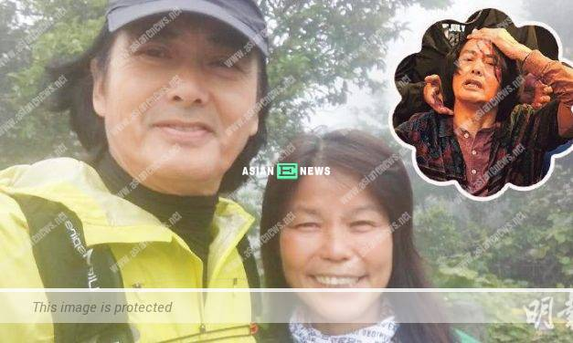 Chow Yun Fat looks energetic and continues his hiking activity
