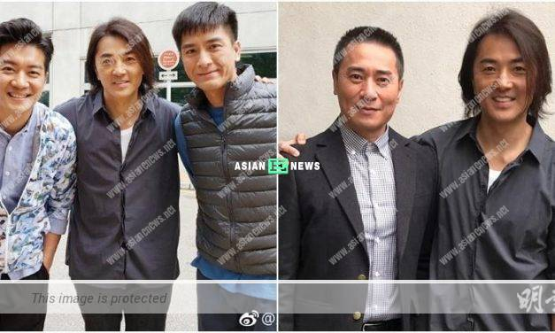 Ekin Cheng appears at TV City; Kenneth Ma takes photo with him