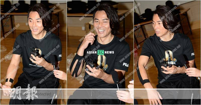 Ekin Cheng has a ligament tear; He does not need Yoyo Mung to take care of him
