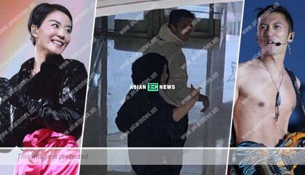 Nicholas Tse and Faye Wong are seen together in the public