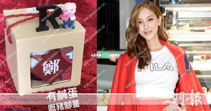 Grace Chan distributes pork knuckles and ginger stew: It is my first try