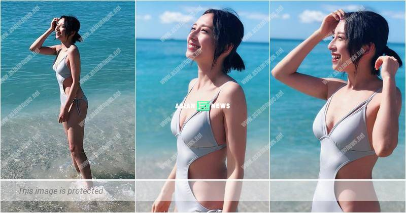 Katy Kung wears a sexy swimsuit and urges her fans to watch Fun Abroad show