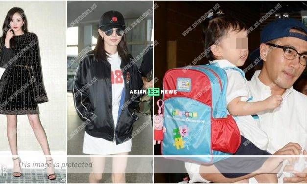 Yang Mi visits her daughter in Hong Kong after filing for divorce with Hawick Lau