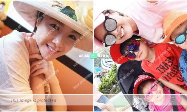 Aimee Chan took her children to the theme park
