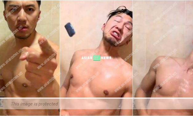 Benjamin Yuen re-enacted the gun scene in the bathroom