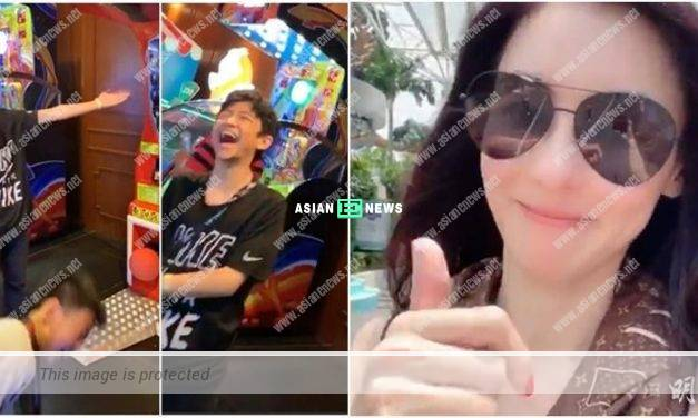 Cecilia Cheung takes her sons to Singapore for holidays