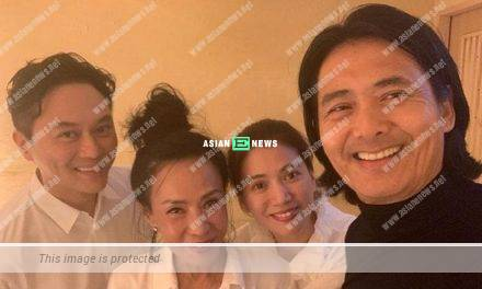 Julian Cheung and Anita Yuen transform into little fans upon seeing Chow Yun Fat
