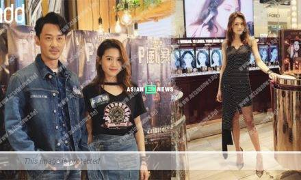 Raymond Lam and Chrissie Chau wear denim outfits and steal the limelight