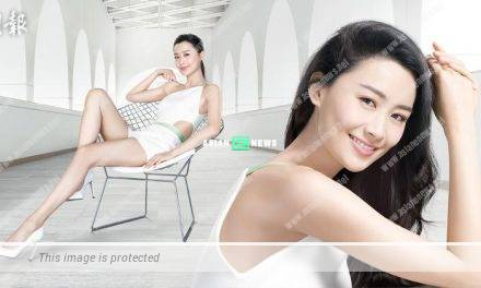 Fala Chen reveals her fit body figure when shooting an advertisement