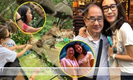 Gigi Lai took her family for a vacation during the public holidays