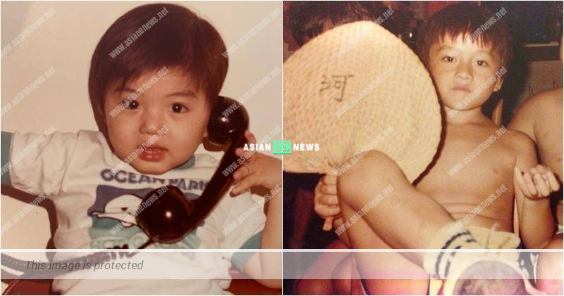 Benjamin Yuen and Joel Chan showed their childhood photos