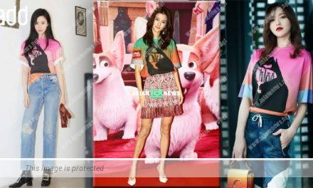 Karena Ng and Crystal Liu wear the same top but show different styles
