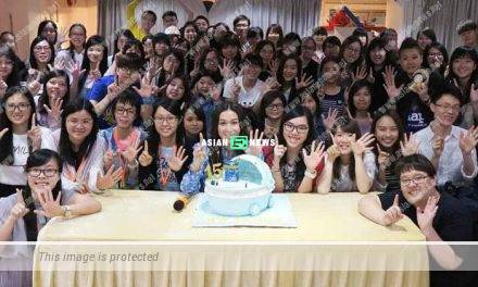 Linda Chung joins the industry for 15 years and celebrates with her fans
