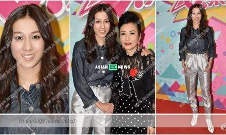 Linda Chung records TVB show with Liza Wang after 4 years later