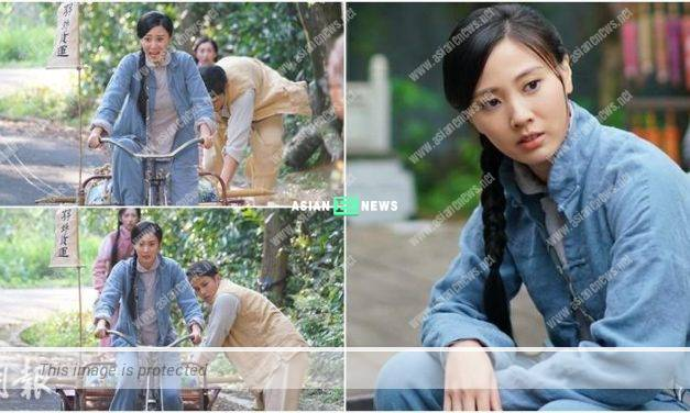 Rebecca Zhu is nearly injured when riding the tricycle for the first time
