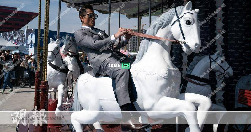 Aaron Kwok transforms into a coach and shows his horse riding skills