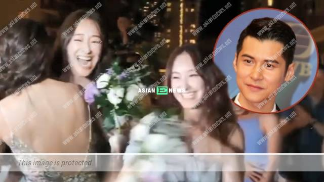 Jeannie Chan gets the floral bouquet thrice; Her Mr Right is Carlos Chan?