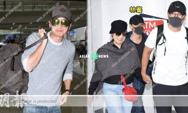 Nicholas Tse spends time with his sons, Raymond Lam returns to Hong Kong alone