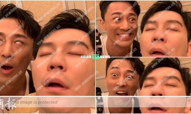 Playful Raymond Lam makes fun of Li Chen who is sleeping
