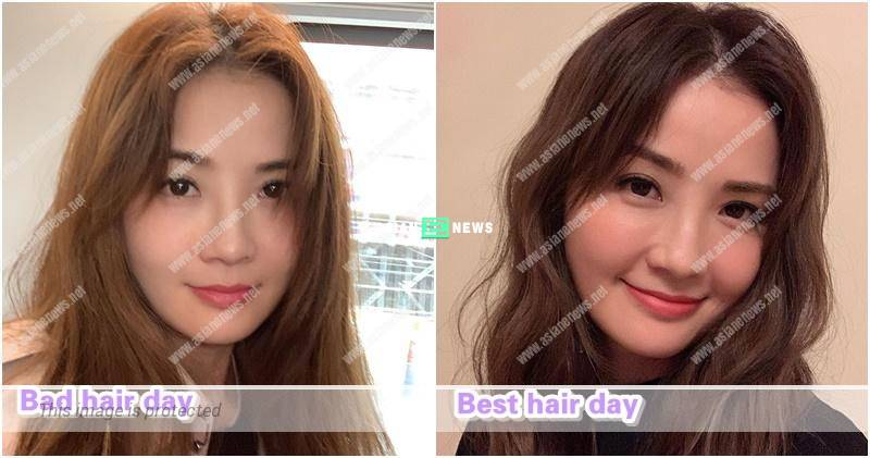 Bad hair day? Charlene Choi has frizzy hair since little