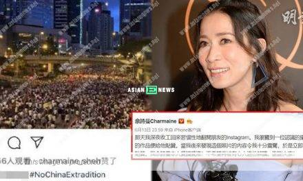 Charmaine Sheh makes Chinese netizens mad; She says she is a patriotic person
