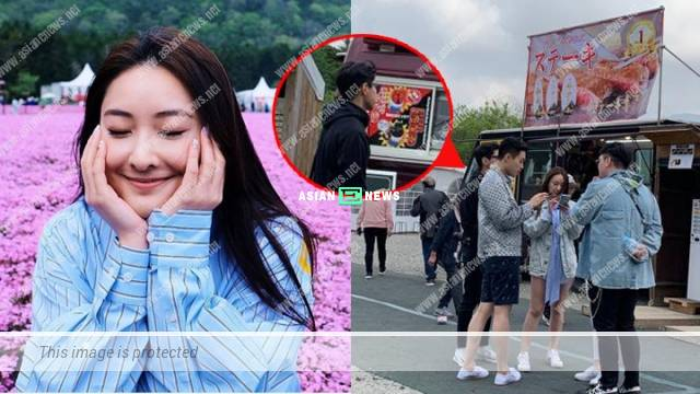 Jeannie Chan views cherry blossom in Japan, Joey Law keeps a distance from her