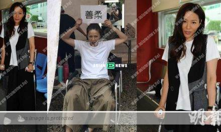 Professional Joyce Tang continues the filming despite her injury