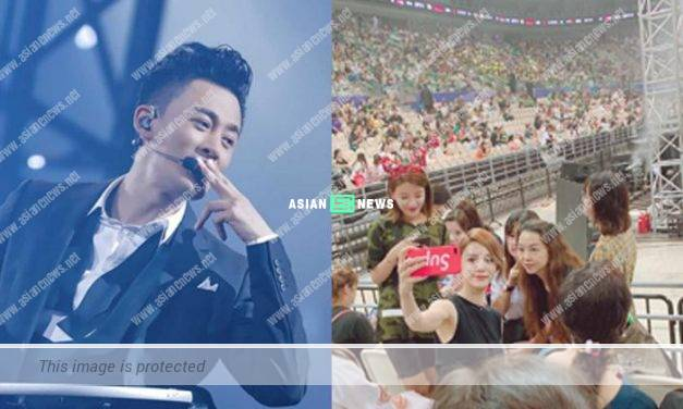 Raymond Lam holds his concert; His girlfriend, Carina Zhang shows her support