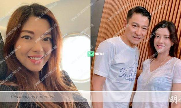 Lucky Canny Leung takes photo with Andy Lau due to flight delay