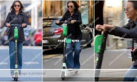 53 years old Carina Lau plays electric scooter and urges everyone to try it