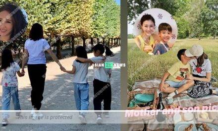 Gigi Lai took her daughters to Paris for a vacation