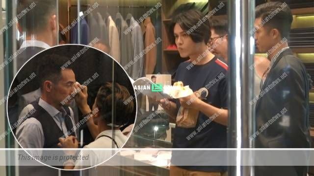 Moses Chan's make-up melted; Matthew Ho ate a slice of bread while rehearsing