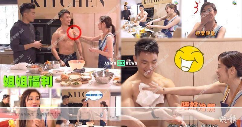 Chris Lai and Mayanne Mak ate durians without caring about their images