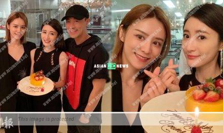 Raymond Lam and his girlfriend held a belated birthday celebration for Rosina Lam