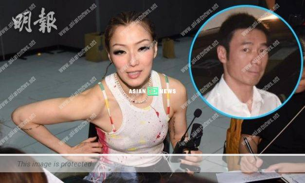 Sammi Cheng avoided all questions related to her husband, Andy Hui